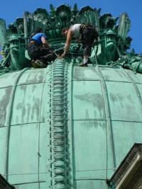 réparation et versification des ornement du dôme de opéra place jacques rouché Paris